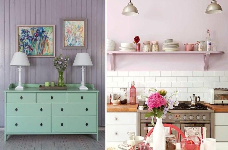 Лавандовый цвет в интерьере: правила оформления комнат и сочетания тонов