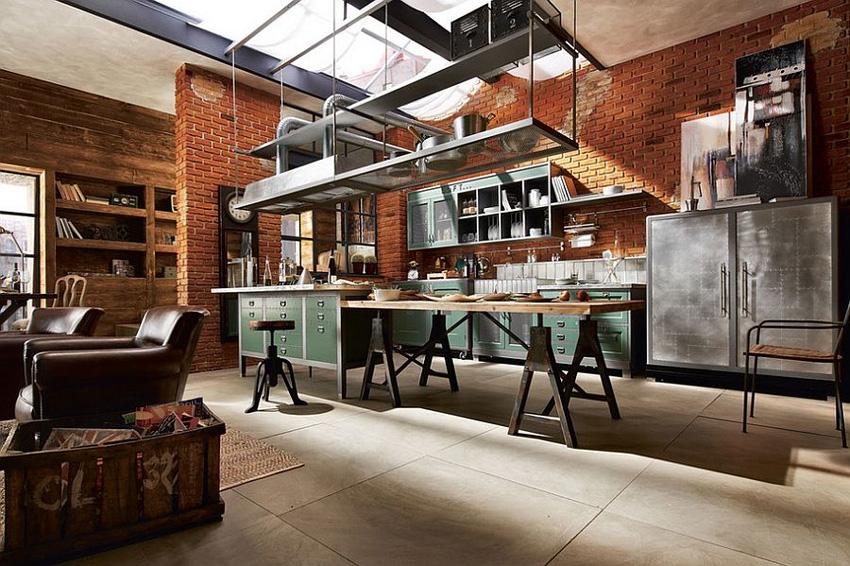 Готовим на заброшенном заводе или как сделать идеальную кухню в стиле лофт?
