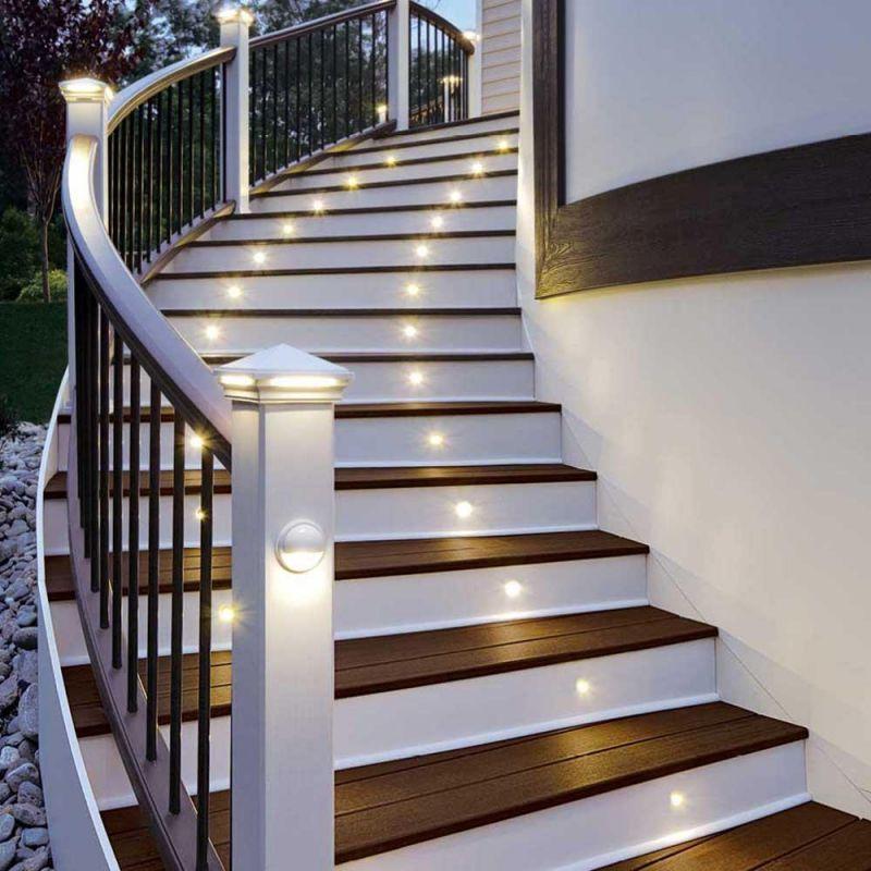 Подсветка лестницы: как сделать освещение ступеней своими руками, схемы и варианты для деревянных лестниц, с датчиком движения, светодиодной лентой