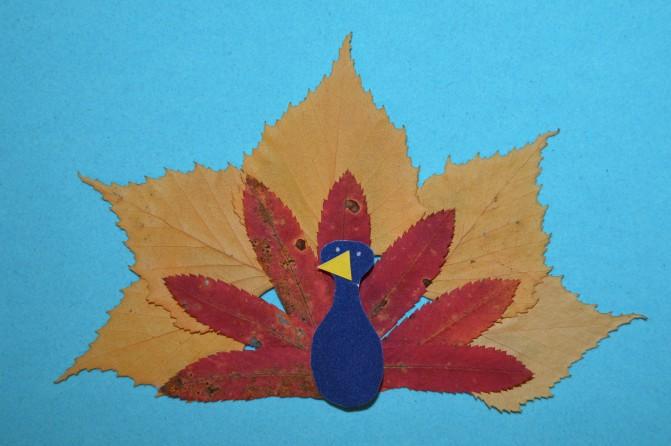 Детские поделки из осенних листьев деревьев для детей
