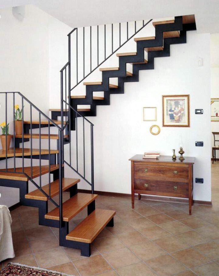 ?лестница на металлокаркасе: изготовление и обшивка деревом