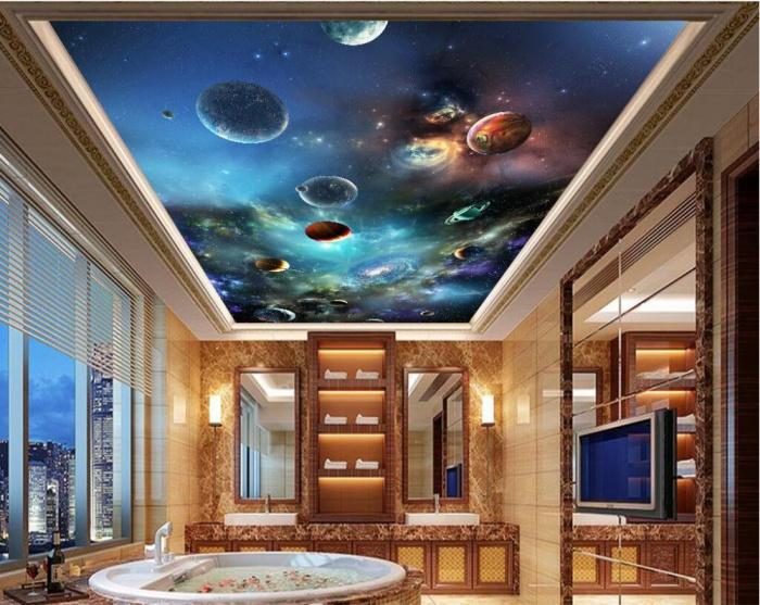 Потолок звездное небо: фото, установка своими руками