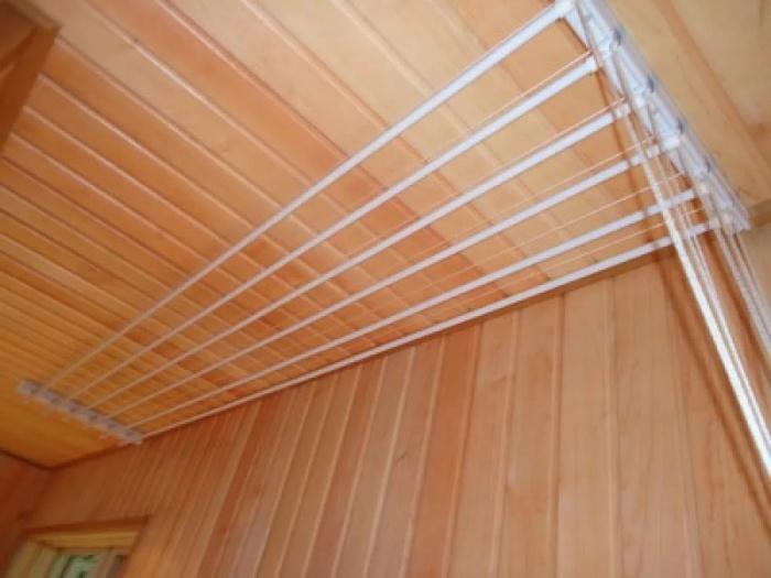 Сушилка для белья потолочная на балкон, настенная, раздвижная
