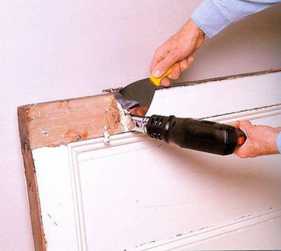 как снять краску со стены на кухне