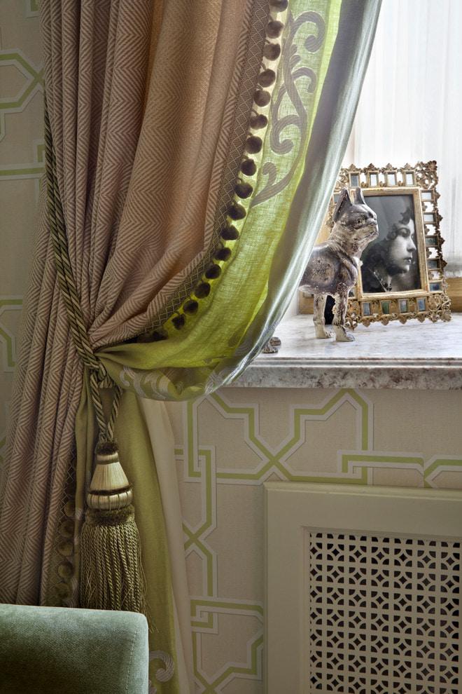 Коричневые шторы в интерьере +50 фото примеров
