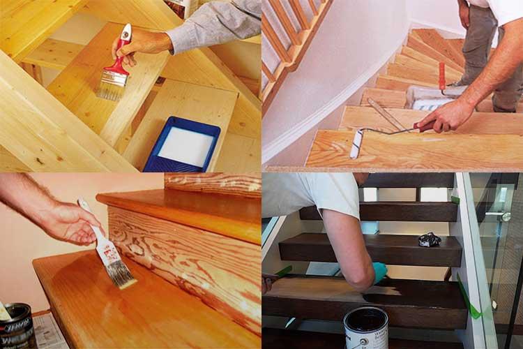Чем обработать лестницу из дерева в доме