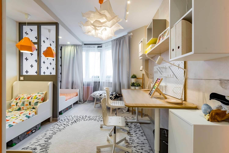 Разделение комнаты на две зоны с использованием перегородок, мебели,зонирование комнаты с помощью штор
