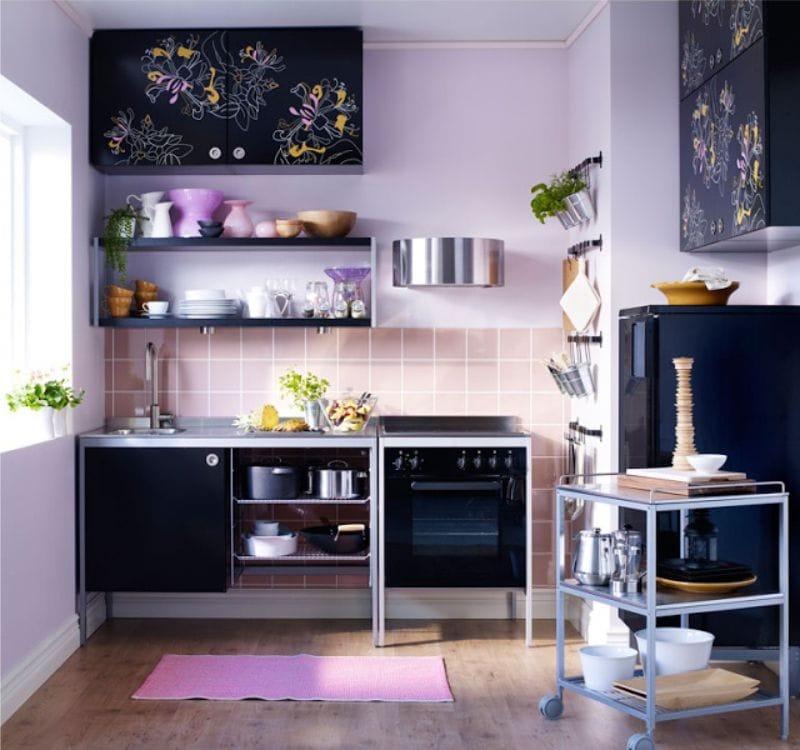 Сиреневая кухня: 100 лучших идей на фото [интерьер 2019 года]