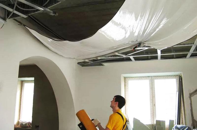 как снять натяжной потолок самостоятельно