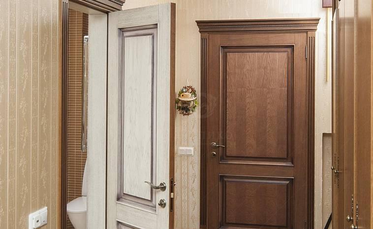 Тёмные двери в светлом интерьере квартиры: фото