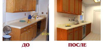 переклейка фасадов кухни