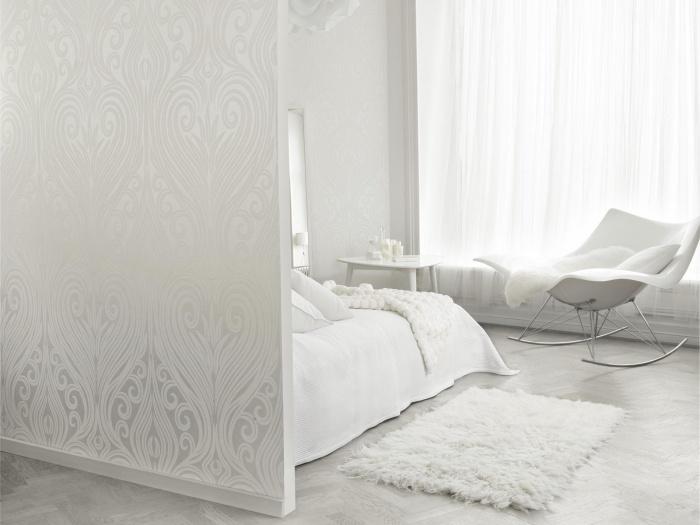 Белые и черно-белые обои в гостиной: 55 фото в интерьере