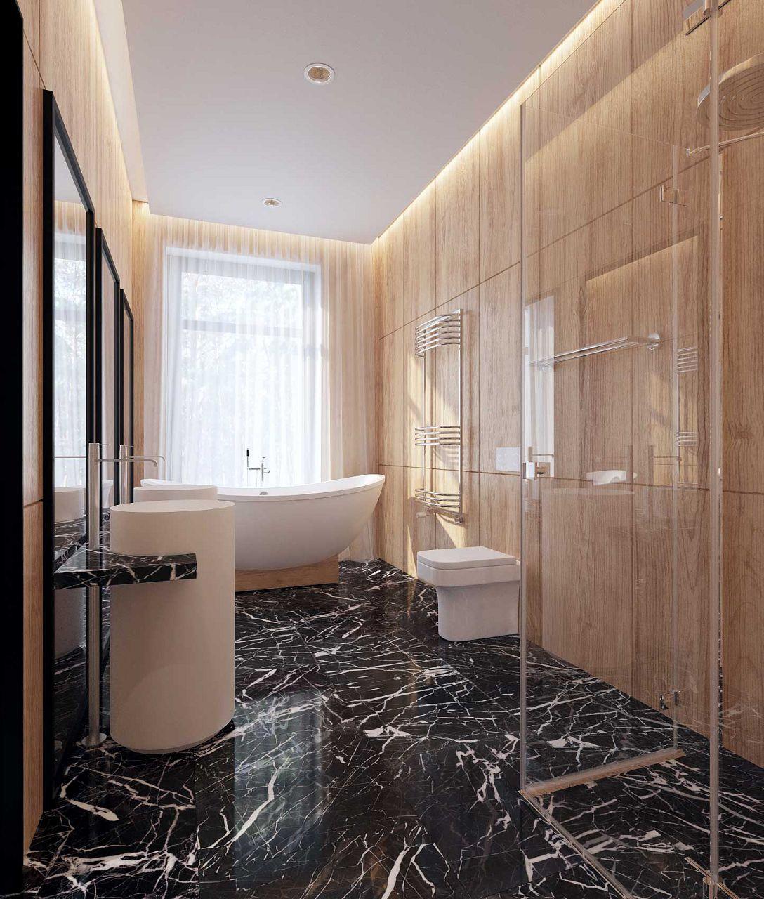 Ванная комната под мрамор. обзор современных интерьеров и рекомендации по выбору материала