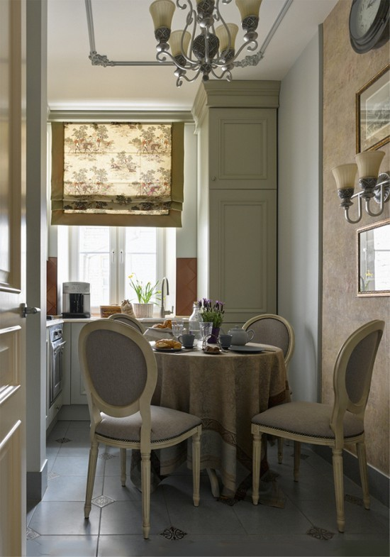 Кухня в бело-коричневой гамме: контраст и гармония