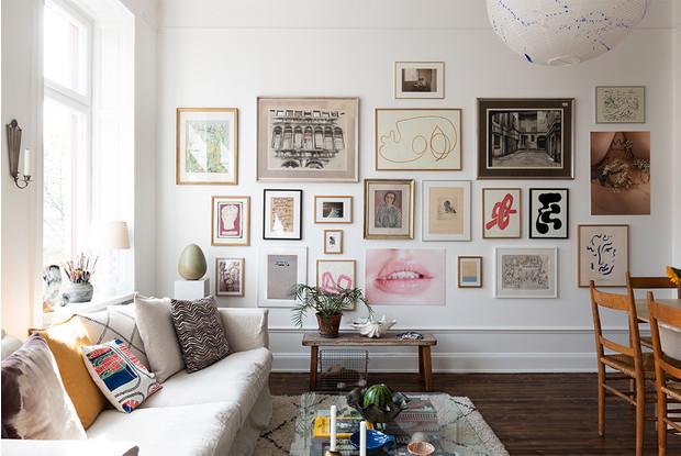 Как повесить картину на стену - советы профессионалов, фото