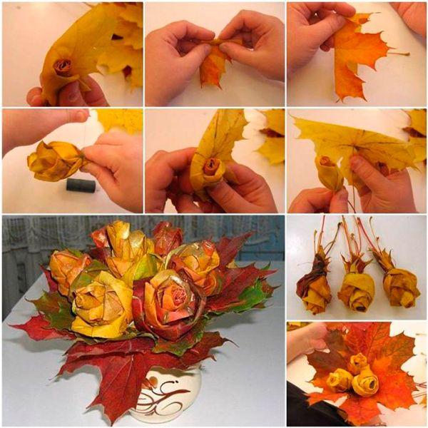 Поделки из осенних листьев своими руками - простые и понятные мастер-классы с фото идеями