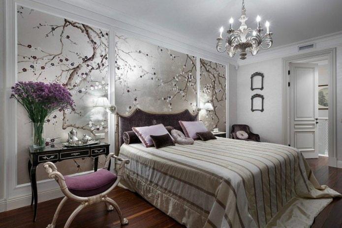 Дизайн стен в спальне (92 фото): отделка и декор стен, рисунки, роспись и фреска в спальне
