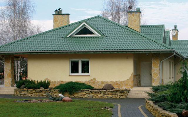 Зеленый цвет крыши дома: фото оригинальных вариантов