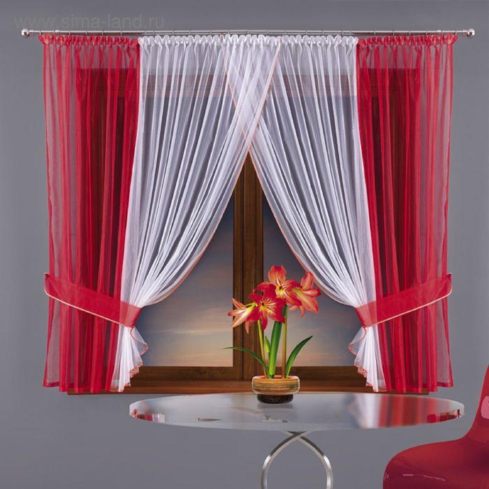 Красные шторы в привычном интерьере - советы и рекомендации, фото