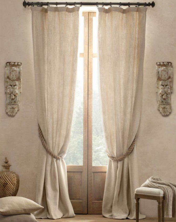 Льняные шторы: фото 30+ идей оформления