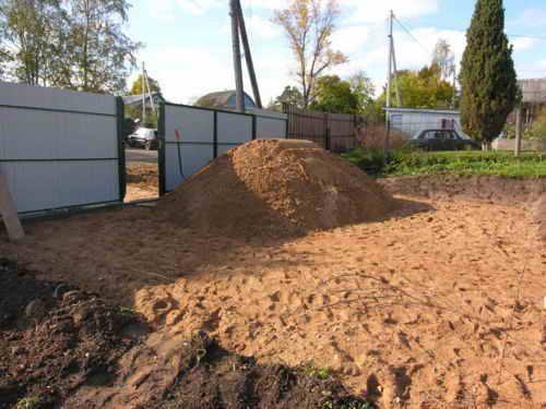 Подготовка почвы под фундамент