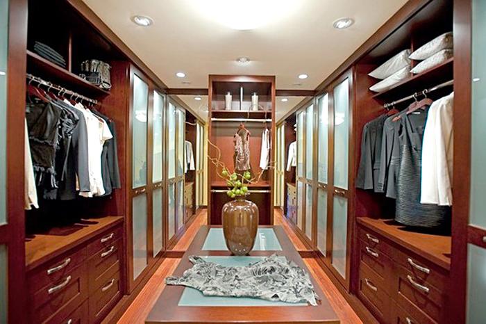 Обустройство и дизайн гардеробной, примеры, фото