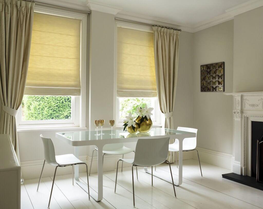 дизайн штор для кухни гостиной