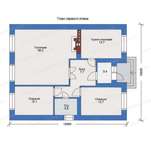 планировка дома 6 на 12 одноэтажный