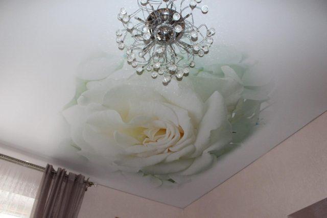 Натяжные потолки (120 фото) - дизайн натяжного потолка в гостиной, кухне, ванной и спальне
