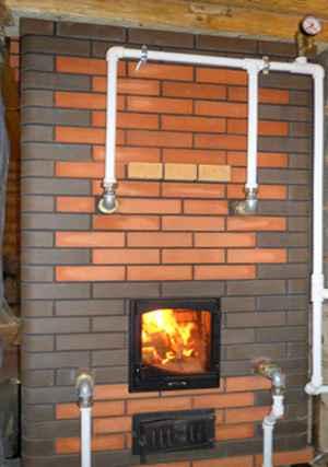 Печное отопление частного деревянного загородного дома, схема