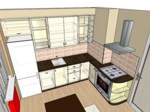 Оформление вентиляционного короба на кухне