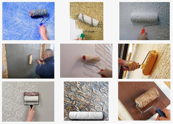 Валики для декоративной покраски стен: тектурный, фигурный, рельефный (фото)