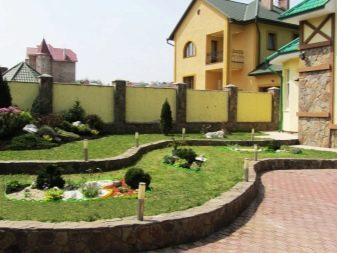 ландшафтный дизайн двора в частном доме фото