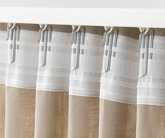 Как правильно повесить шторы, тюль и портьтеры на шторной ленте?