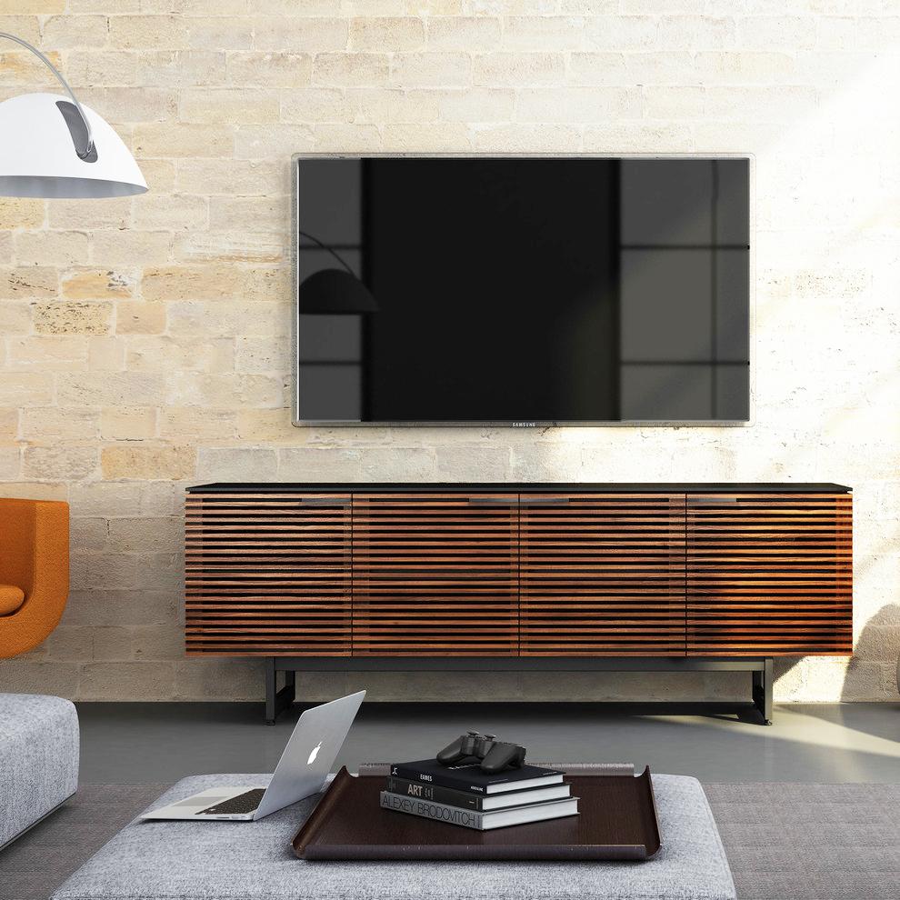 полка под телевизор в современном стиле