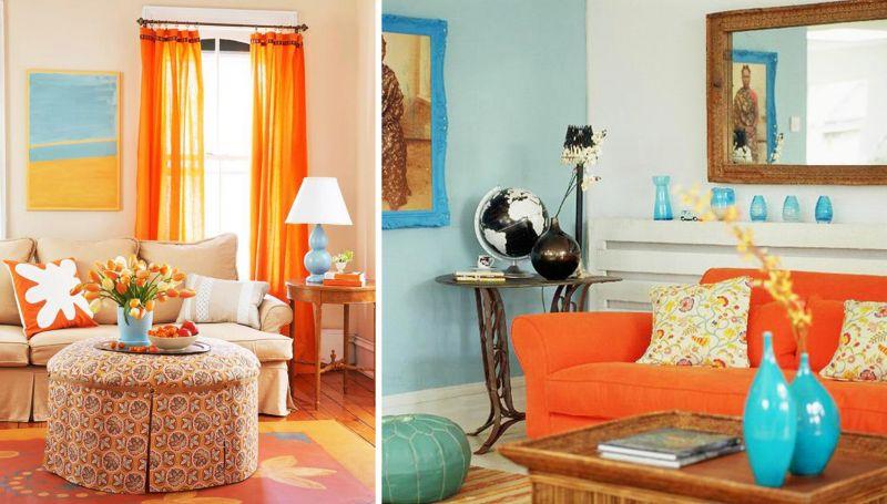 Особенности использования оранжевого цвета и его сочетаний в интерьере комнат