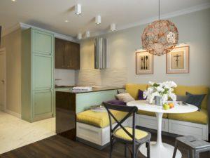 Какой подобрать для кухни-гостинной 14 кв. м дизайн: 35 фото