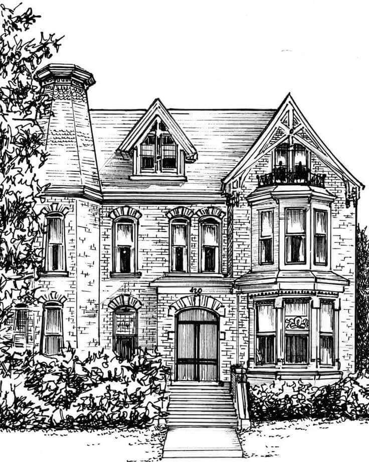 Как красиво нарисовать красиво дом – как нарисовать дом карандашом поэтапно легко и красиво — шелковый путь