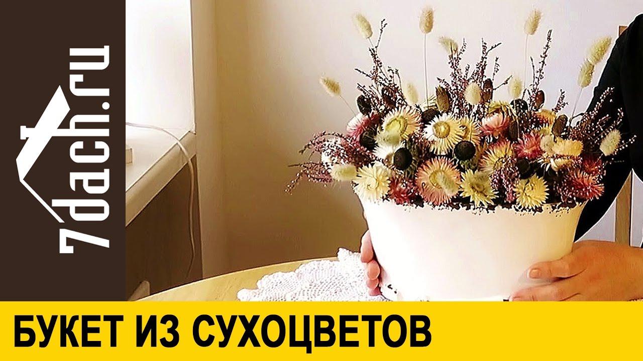 Сухоцветы для зимних букетов