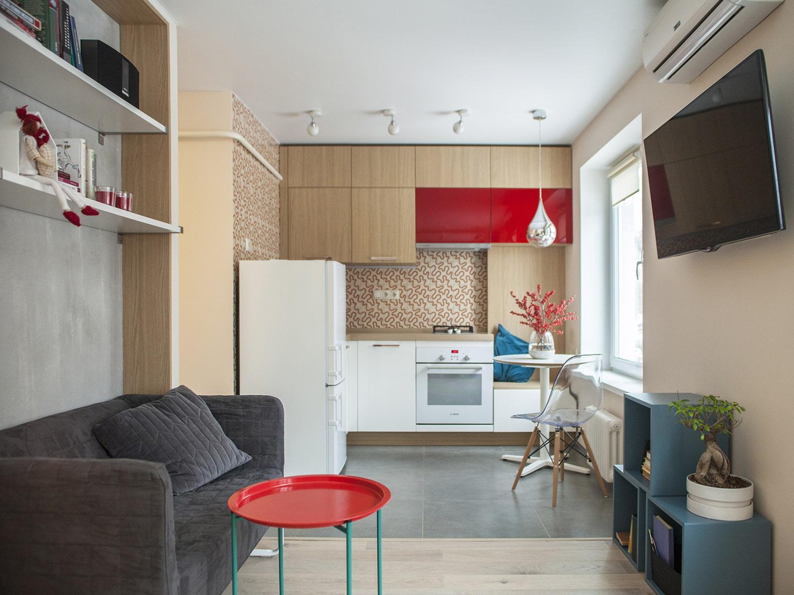 Дизайн кухни-студии 15, 16, 17 кв. м. (60 фото): кухня-гостиная 16 метров в квартире с одним окном