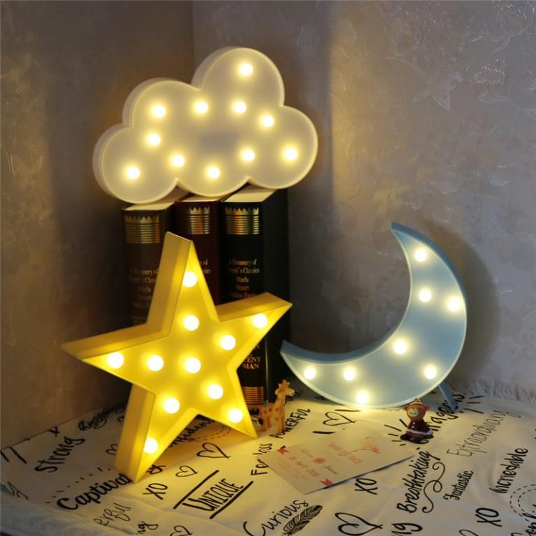 Ночник (90 фото): выбираем в спальню для взрослых ночной светильник в виде луны и с датчиком движения, лампу-часы на батарейках