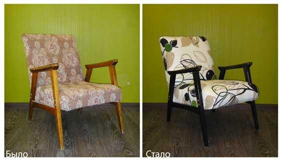 Как перетянуть стул и другую мебель своими руками?