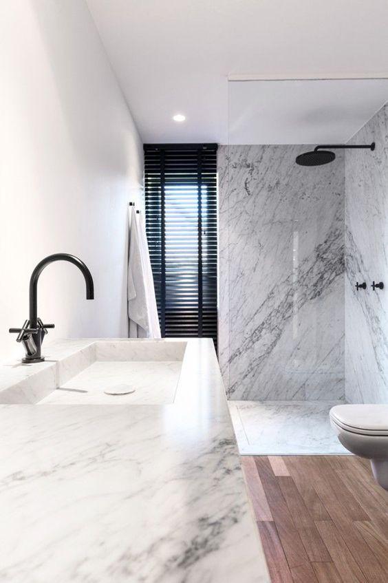 плитка в ванную под мрамор
