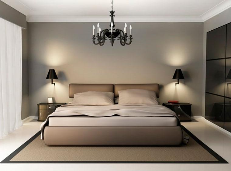 Как правильно выбрать высоту, на которой расположить бра над кроватью
