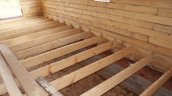 пол деревянный на лагах