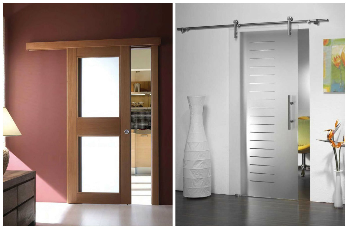 выдвижная дверь в комнату