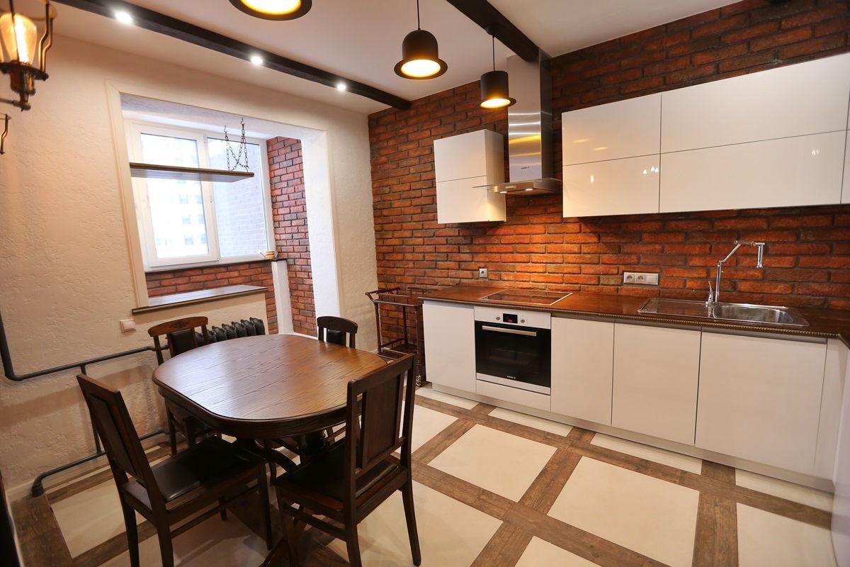 кухни в стиле лофт в квартирах