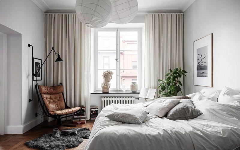 шторы в маленькую спальню фото