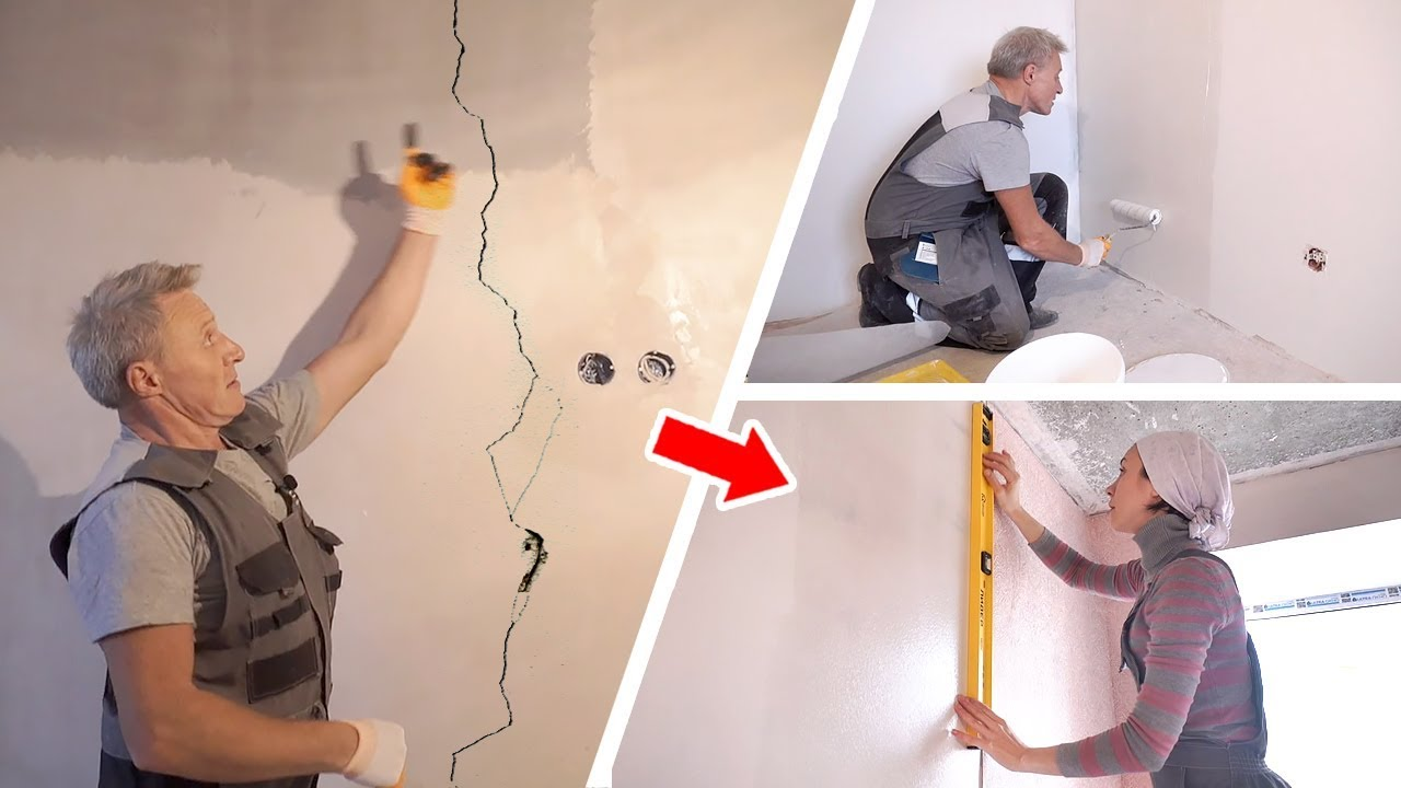 подготовка стен под обои