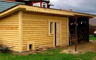 строим сарай с односкатной крышей своими руками